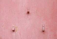 Gammalt rosa metallark, textur Royaltyfri Bild