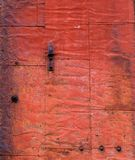gammalt rostat stål för dörr Arkivbild