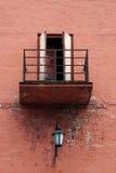 gammalt rostigt för balkong Arkivbild