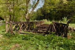 gammalt rostigt för bro Royaltyfria Bilder