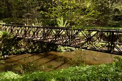 gammalt rostigt för bro Royaltyfria Foton