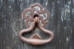 gammalt rostigt för dörrhandtag Royaltyfri Fotografi