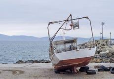 gammalt rostigt för fartyg Fotografering för Bildbyråer