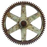 gammalt rostigt för stort kugghjul Royaltyfri Fotografi