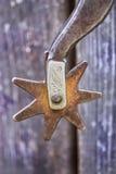 gammalt rostigt sporrar stjärnan Arkivfoton