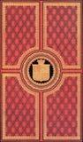 Gammalt rött och guld- läderbokomslag Royaltyfri Foto