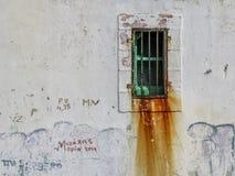 Gammalt rum i fängelse royaltyfria bilder