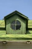 Gammalt runt vindskupefönsterloftfönster Royaltyfri Bild