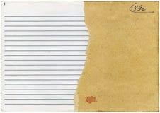 gammalt sönderslitet för anteckningsbok royaltyfria foton