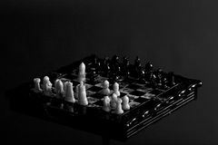 Gammalt schackbräde Royaltyfri Foto