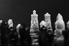 Gammalt schackbräde Royaltyfria Foton