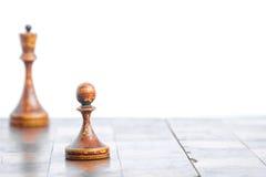 Gammalt schackbräde Arkivfoto