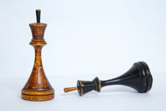 Gammalt schackbräde Arkivbilder