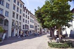 gammalt schaffhausen townen Royaltyfria Foton