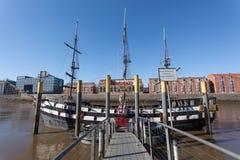 Gammalt seglingskepp i Bremen, Tyskland Arkivfoton