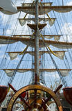 gammalt shiphjul royaltyfri bild