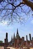 Gammalt Siam tempel av Ayutthaya Fotografering för Bildbyråer