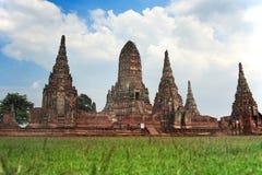 Gammalt Siam tempel av Ayutthaya Arkivbilder