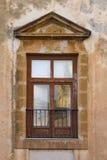 Gammalt siclian fönster Arkivbilder
