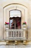 Gammalt siclian fönster Royaltyfria Bilder