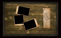 gammalt sidafoto för album Royaltyfri Bild
