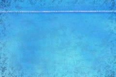 Gammalt sjaskigt läder för blå grunge med sömmen Royaltyfria Foton