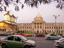 Gammalt sjukhus, Bucharest Arkivfoto