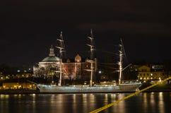 Gammalt skepp i Stockholm, Sverige Arkivbilder