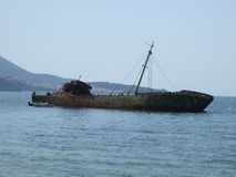 gammalt skeppsbrott arkivfoton