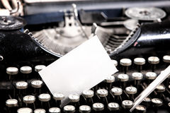 gammalt skrivande för maskin Royaltyfri Foto