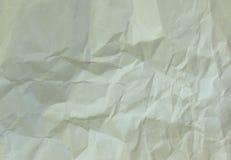 Gammalt skrynkligt papper Royaltyfria Foton