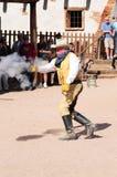 gammalt skytte för cowboy Arkivfoton