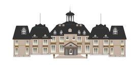 gammalt slott stock illustrationer