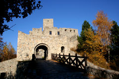 gammalt slott arkivbild
