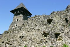 gammalt slott Arkivfoto