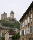 Gammalt slott i Foix Arkivbild