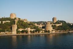 Gammalt slott i Istanbul Arkivbilder