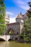 Gammalt slott som omges av romantiska trädgårdar. Royaltyfri Fotografi