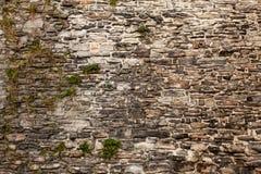 Gammalt slut för textur för bakgrund för vägg för röd tegelsten upp bricked vägg texturerad modell för fortlöpande reproducerande arkivbild