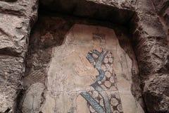 Gammalt snida i Armenien royaltyfria bilder