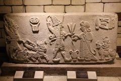 Gammalt snida i museet av Anatolian civilisationer, Ankara Royaltyfri Bild