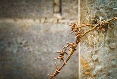 Gammalt som förses med en hulling på en pelare Royaltyfri Fotografi