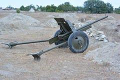 gammalt sovjet för kanon Arkivbild