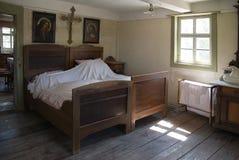 gammalt sovrum Arkivfoto