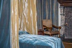 gammalt sovrum Arkivbilder