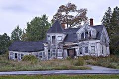 gammalt spöklikt för hus arkivfoton