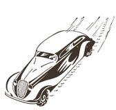 Gammalt springa för bil på den hög hastigheten. royaltyfri illustrationer
