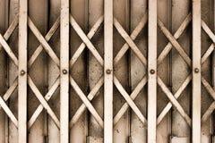 gammalt stål för dörr Arkivbild