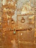 gammalt stål för dörr Royaltyfria Foton