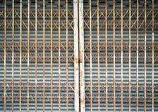 gammalt stål för dörr Royaltyfria Bilder